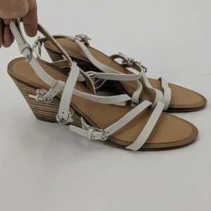 NWT SIGERSON MORRISON Leather Strappy Wedge Sandal